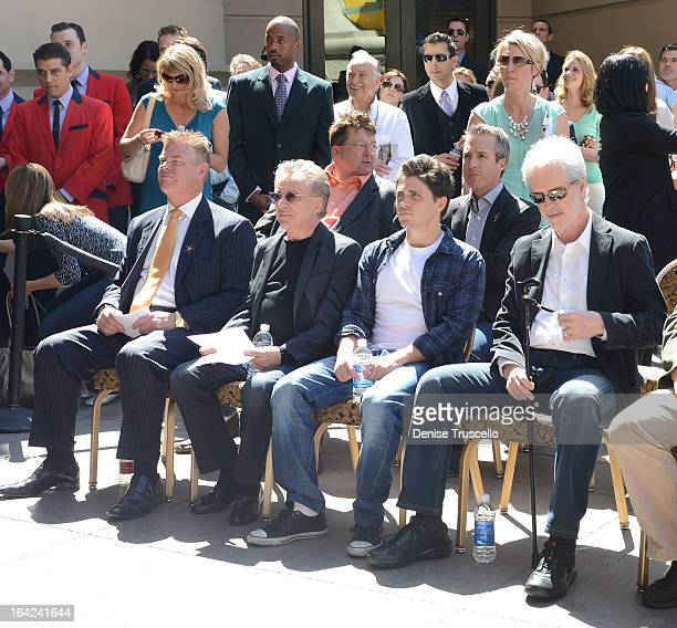 David Hoenemeyer Frankie Valli Francesco Valli and Bob Gaudio during the Frankie Valli And The Four Seasons star unveiling at the Las Vegas Walk Of...