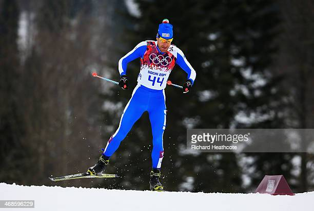 David Hofer of Italy competes in Qualification of the Men's Sprint Free during day four of the Sochi 2014 Winter Olympics at Laura Crosscountry Ski...