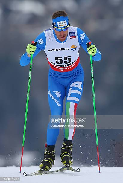 David Hofer of Italy in action during the Men's Cross Country Individual 15km at the FIS Nordic World Ski Championships on February 27 2013 in Val di...