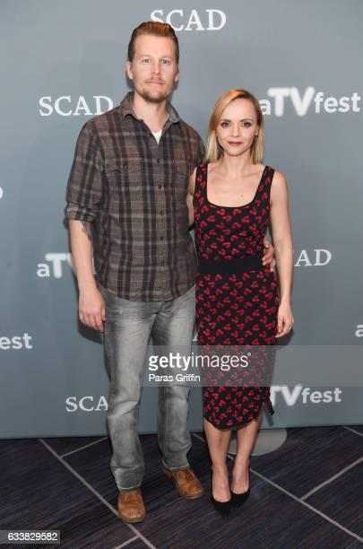 David Hoflin and Christina Ricci attend the 5th Annual aTVfest at Four Seasons Hotel on February 4, 2017 in Atlanta, Georgia.
