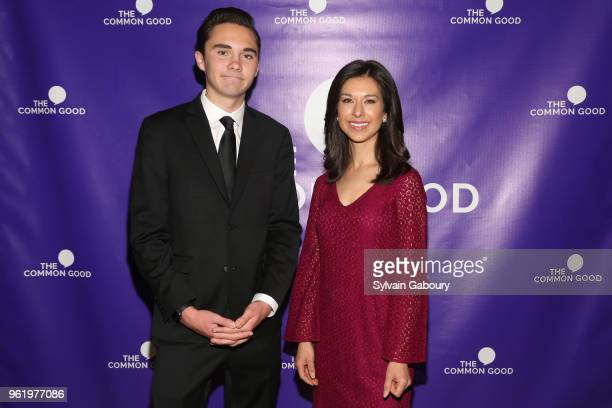 David Hogg and Ana Cabrera attend The Common Good Forum American Spirit Awards 2018 at The Common Good Forum on May 21 2018 in New York City David...