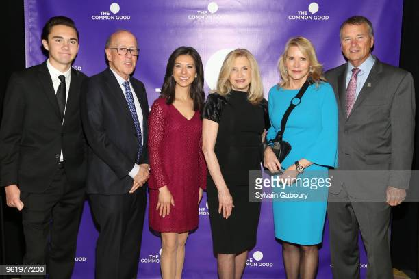 David Hogg Dr Stephen Roach Ana Cabrera Carolyn Maloney Patricia Duff and James Winnefeld attend The Common Good Forum American Spirit Awards 2018 at...