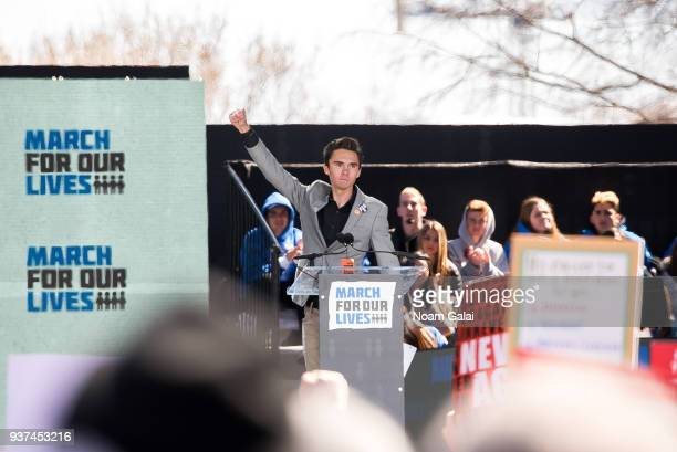 David Hogg speaks during March For Our Lives on March 24 2018 in Washington DC