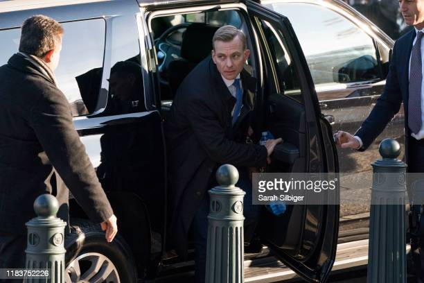 David Holmes an official from the American Embassy in Ukraine arrives to Longworth House Office Building to testify before the House Intelligence...