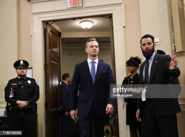 David Holmes an official from the American embassy in Ukraine testify before the House Intelligence Committee in the Longworth House Office Building...
