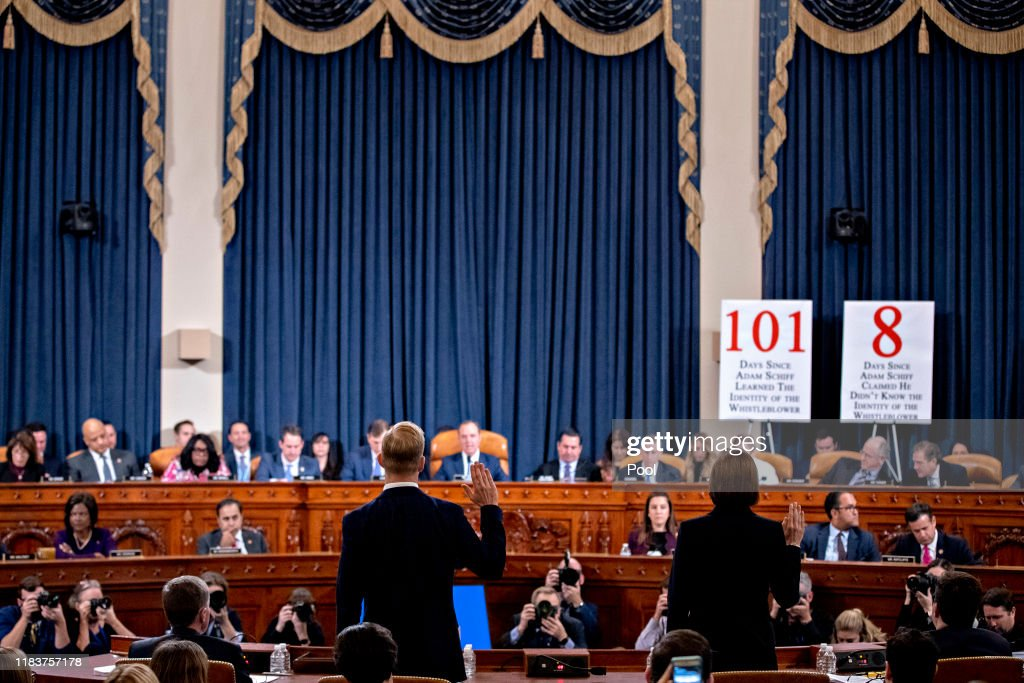 House Intelligence Committee Continues Open Impeachment Hearings : News Photo