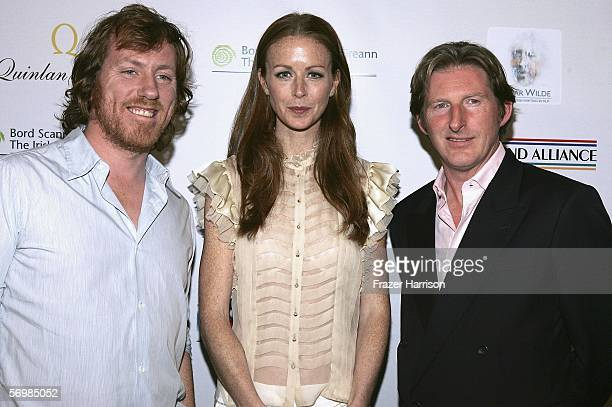 David Holmes Jean Butler and Adrian Dunbar arrive at the 'Oscar Wilde Honoring Irish Writing in Film' event held at the Ebell Club of Los Angeles on...