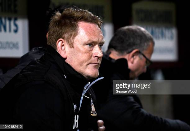 David Hopkins manager of Bradford City looks on during the Checkatrade Trophy match betweet Bradford City and Everton U21's at Coral Windows Stadium...
