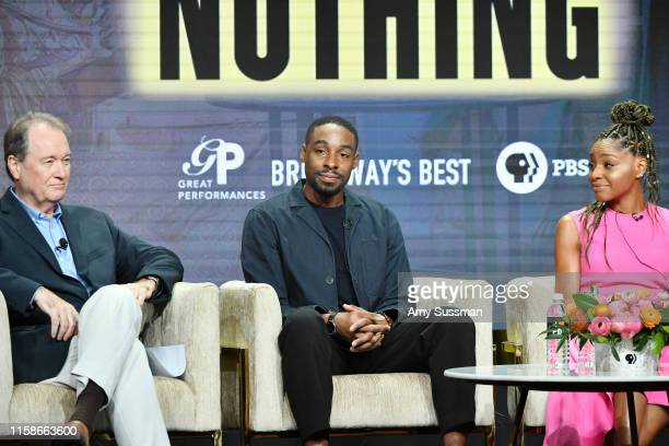 David Horn Grantham Coleman and Margaret Odette of Much Ado About Nothing speak during the 2019 Summer TCA press tour at The Beverly Hilton Hotel on...