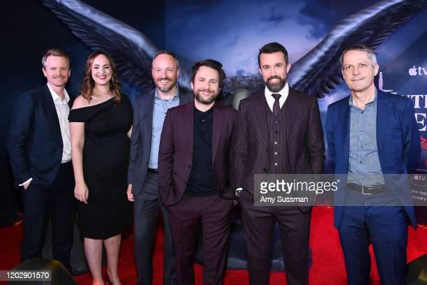David Hornsby Danielle Kreinik Jason Altman Charlie Day Rob McElhenney and Gerard Guillemot attend the premiere of Apple TV's Mythic Quest Raven's...