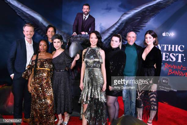 David Hornsby Imani Hakim Danny Pudi Ashly Burch Rob McElhenney Charlotte Nicdao Jessie Ennis F Murray Abraham and Caitlin McGee attend the premiere...