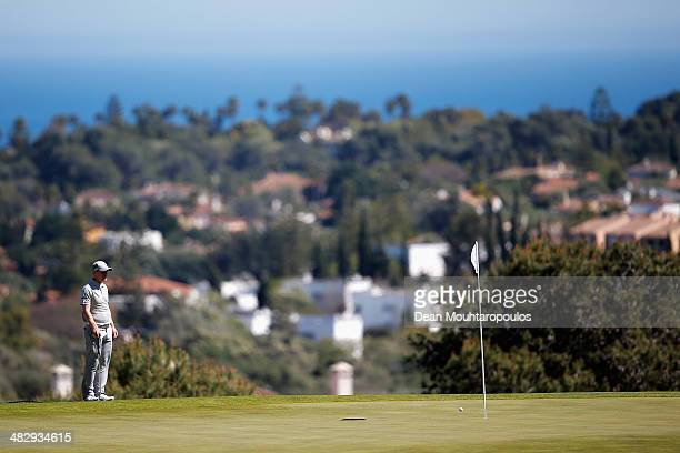 David Horsey of England is pictured on the 7th green during day three of the NH Collection Open held at La Reserva de Sotogrande Club de Golf on...