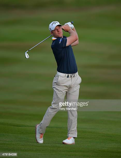 David Horsey of England plays his second shot on the 10th fairway during Alstom Open de France Day One at Le Golf National on July 2 2015 in Paris...