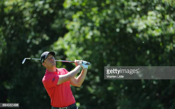 David Horsey of England plays his second shot on the 3rd hole during day two of the Lyoness Open at Diamond Country Club on June 9 2017 in Atzenbrugg...