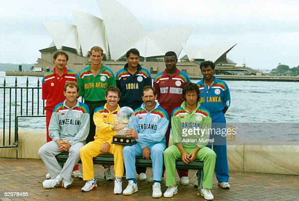David Houghton of Zimbabwe Keppler Wessels of South Africa Mohammed Azharuddin of India Richie Richardson of the West Indies and Aravinda De Silva of...