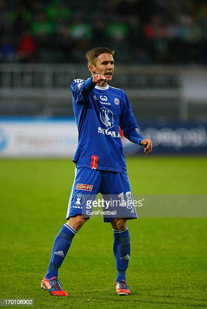 David Houska of SK Sigma Olomouc in action during the Czech First League match between FK Jablonec and SK Sigma Olomouc held on May 26, 2013 at the...