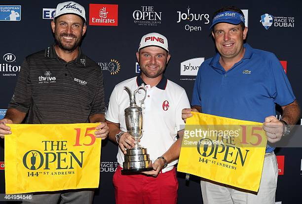 David Howell Andy Sullivan and Anthony Wall during the final round of the Joburg Open at Royal Johannesburg and Kensington Golf Club on March 1 2015...