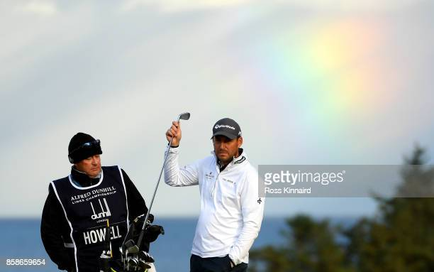 David Howell of England is pictured on the 9th fairway during day three of the 2017 Alfred Dunhill Championship at Kingsbarns on October 7 2017 in St...