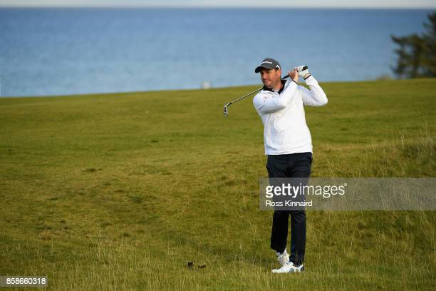 David Howell of England on the 9th during day three of the 2017 Alfred Dunhill Championship at Kingsbarns on October 7 2017 in St Andrews Scotland