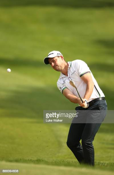 David Howell of England plays a shot on the 4th hole during the second day of the Joburg Open at Randpark Golf Club on December 8 2017 in...