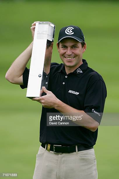 David Howell of England poses with the trophy following his victory in the Final Round of the BMW Championship at The Wentworth Club on May 28 2006...