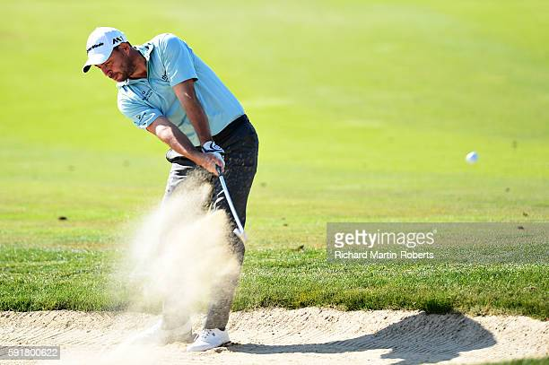 David Howell of England takes his second shot on the 12th hole during day one of the DD REAL Czech Masters at Albatross Golf Resort on August 18 2016...