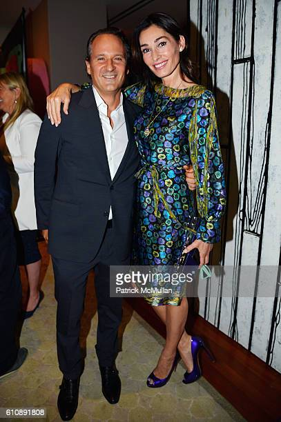 David Hryck and Dara Tomanovich attend the Cultural Council of Palm Beach County Previews Cultural Season at NYC's CORE Club at CORE Club on...