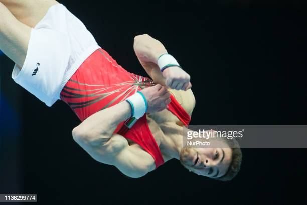 David Huddleston in action during qualifications at the European Championships Artistic Gymanstics in Szczecin Poland on 10 April 2019 The EC are...
