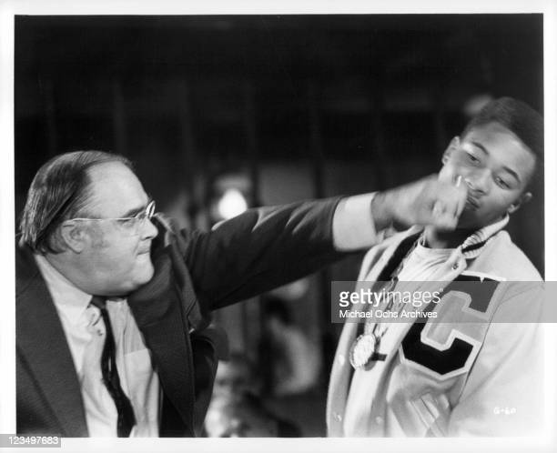 David Huddleston throws a left punch to Chip McAllister in a scene from the film 'The Greatest' 1977