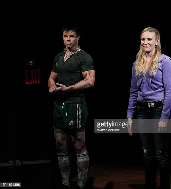 David Hull Aleque Reid during the Opening Night Performance Curtain Call for MCC Theater's 'Really Really' at The Lucille Lortel Theatre in New York...