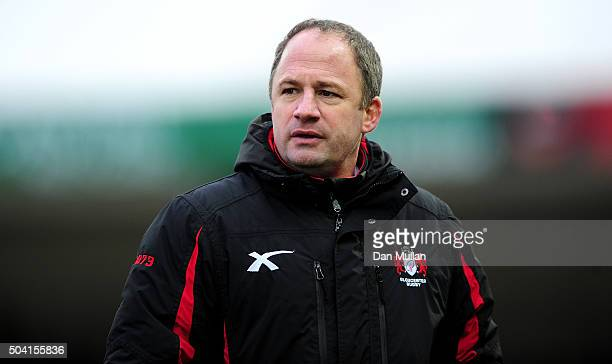 David Humphreys Gloucester's Director of Rugby looks on prior to the Aviva Premiership match between Exeter Chiefs and Gloucester Rugby at Sandy Park...