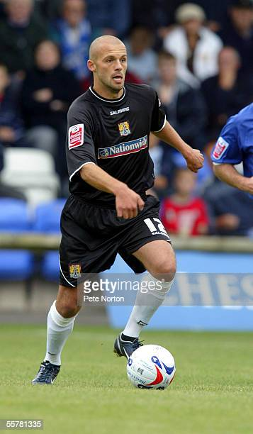 David Hunt of Northampton Town in action during the Coca Cola League Two match between Macclesfield Town and Northampton Town at Moss Rose stadium on...