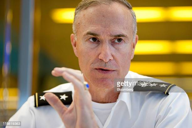 David Huntoon superintendent of the United States Military Academy at West Point speaks during an interview in New York US on Monday July 25 2011...
