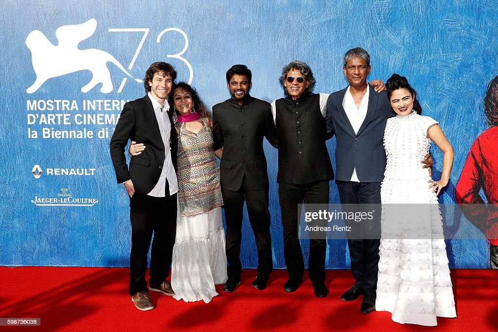 David Huwiler, producer Sajida Sharma, director Shubhashish Bhutiani, producer Sanjay Bhutiani, actor Adil Hussain and Avyakta Kapur attend the premiere of 'Hotel Salvation' Premiere during the 73rd Venice Film Festival at Sala Giardino on September 2, 2016 in Venice, Italy.