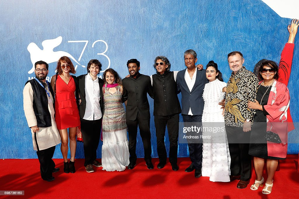 David Huwiler, producer Sajida Sharma, director Shubhashish Bhutiani, producer Sanjay Bhutiani, actor Adil Hussain, Avyakta Kapur and guests attend the premiere of 'Hotel Salvation' Premiere during the 73rd Venice Film Festival at Sala Giardino on September 2, 2016 in Venice, Italy.