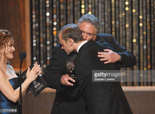David Hyde Pierce accepts Actor for Curtains from presenters Bernadette Peters and Harvey Fierstein