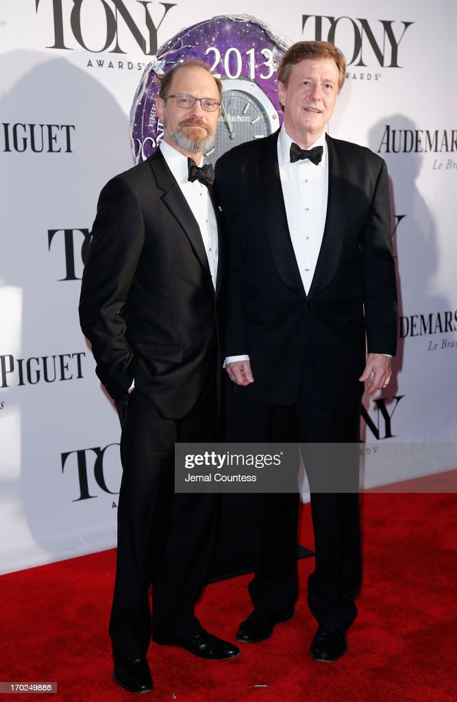 David Hyde Pierce (L) and Brian Hargrove attend The 67th Annual Tony Awards at Radio City Music Hall on June 9, 2013 in New York City.
