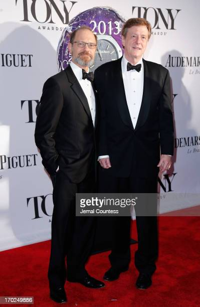 David Hyde Pierce and Brian Hargrove attend The 67th Annual Tony Awards at Radio City Music Hall on June 9 2013 in New York City