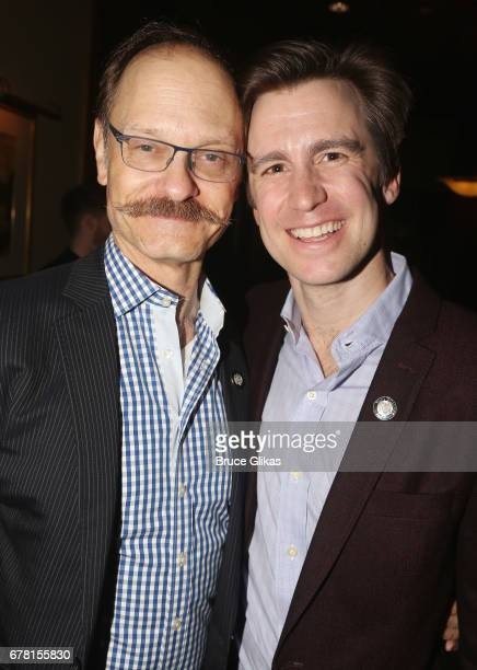 David Hyde Pierce and Gavin Creel pose at The 71st Annual Tony Awards Meet the Nominees Press Junket at Sofitel Hotel on May 3 2017 in New York City
