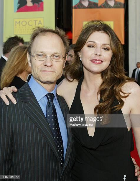 David Hyde Pierce and Jane Leeves during Paramount Says Farewell to Frasier at Barker Hanger at Santa Monica Airport in Santa Monica California...