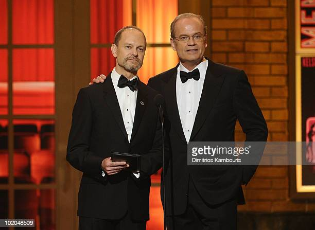 David Hyde Pierce and Kelsey Grammer present onstage during the 64th Annual Tony Awards at Radio City Music Hall on June 13 2010 in New York City