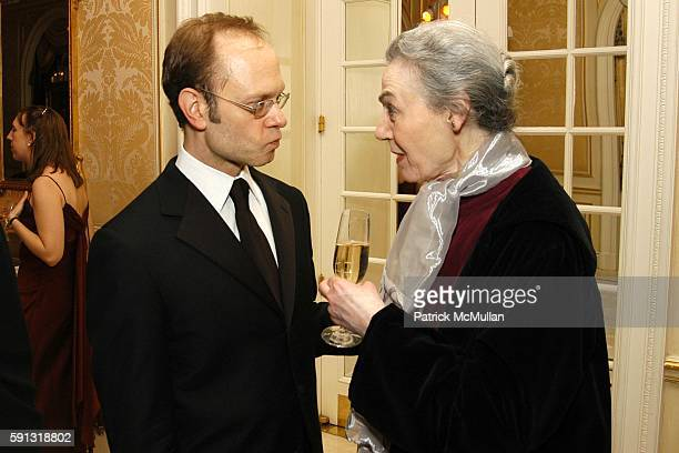 David Hyde Pierce and Marian Seldes attend National Corporate Theatre Fund 2005 Annual Chairman Awards Gala at Essex House on April 4 2005 in New...