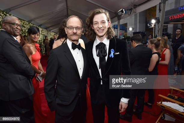 David Hyde Pierce and Mike Faist attend the 2017 Tony Awards at Radio City Music Hall on June 11 2017 in New York City
