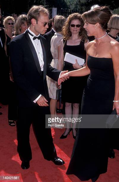 David Hyde Pierce and Peri Gilpin at the 50th Annual Primetime Emmy Awards Shrine Auditorium Los Angeles