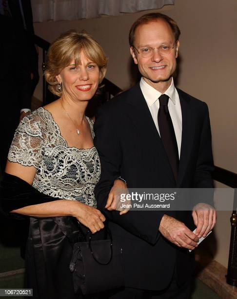 David Hyde Pierce and sister Carla during The Museum of Television and Radio Honors CBS News's Dan Rather and Friends Producing Team Inside at...