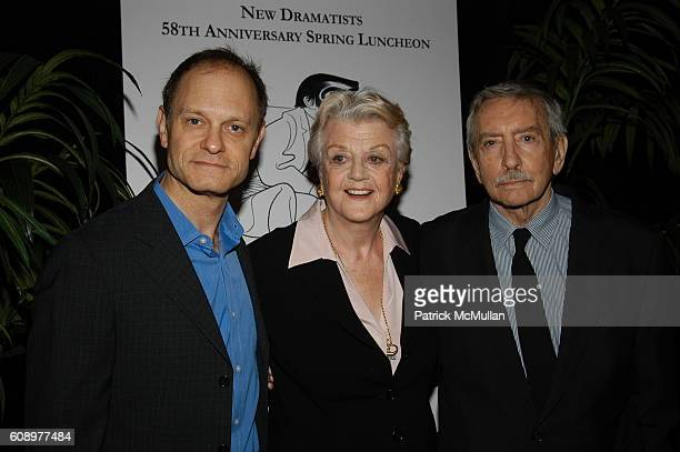 David Hyde Pierce Angela Lansbury and Edward Albee attend NEW DRAMATISTS 58th Annual Spring Luncheon Honoring EDWARD ALBEE at Marriott Marquis on May...