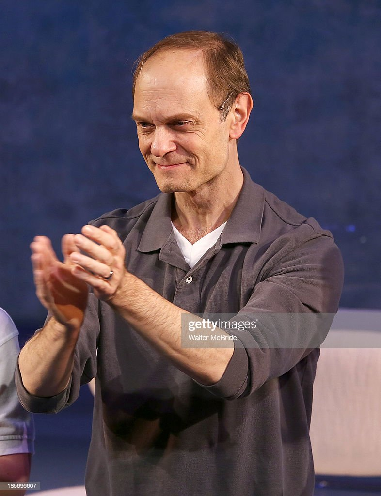 David Hyde Pierce during the opening night Curtain Call for 'The Landing' at Vineyard Theatre on October 23, 2013 in New York City.