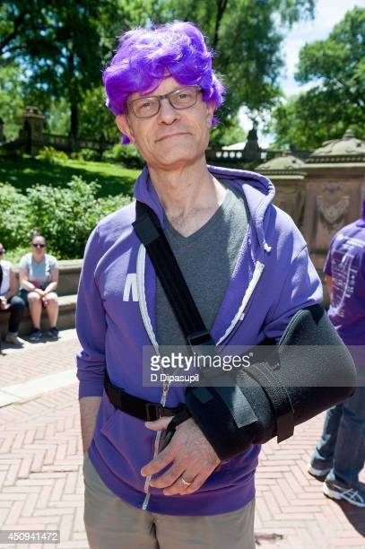 David Hyde Pierce raises awareness for Alzheimer's Disease with the New York City Chapter of the Alzheimer's Association at Bethesda Fountain in...