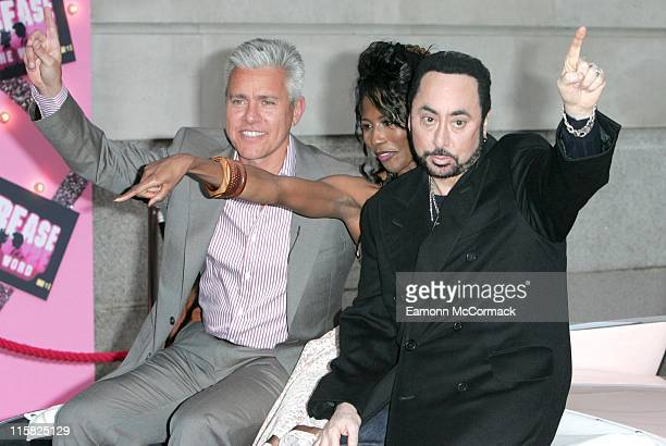David Ian Sinitta and David Gest during 'Grease Is The Word' Press Photocall at Bloomsbury Ballroom in London Great Britain