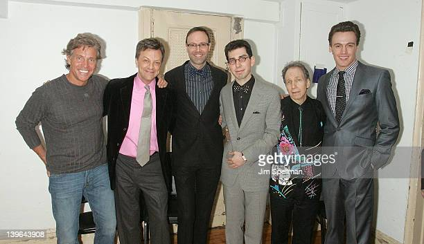 David Ippolito Jim Caruso John Bucchino Aaron Weinstein Scott Siegel and Erich Bergen attend the Best of Jim Caruso's cast party at Town Hall on...
